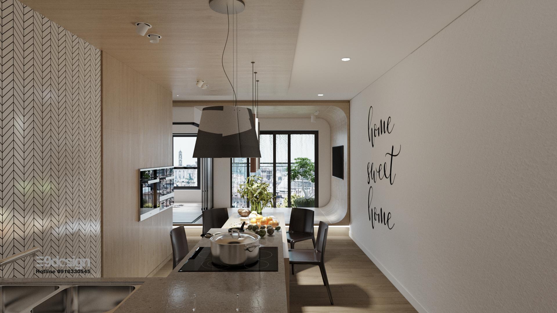 Thiết kế nội thất căn hộ vinhomes grand park căn hộ 2 phòng ngủ